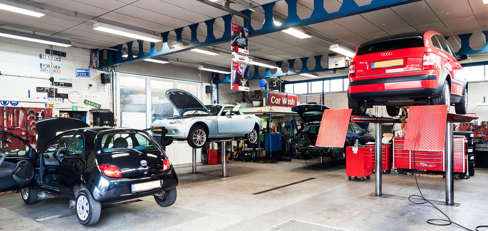 Werkplaats van Autobedrijf Baltes in Holten
