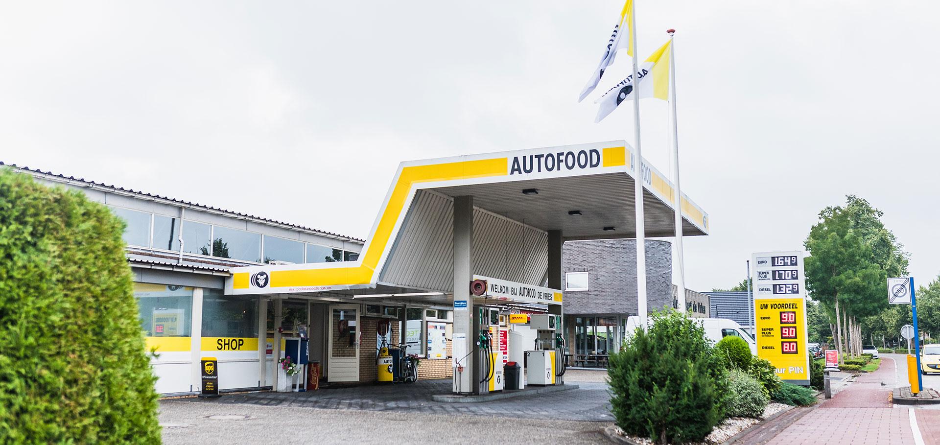 Autofood tankstation Autobedrijf Bert de Vries