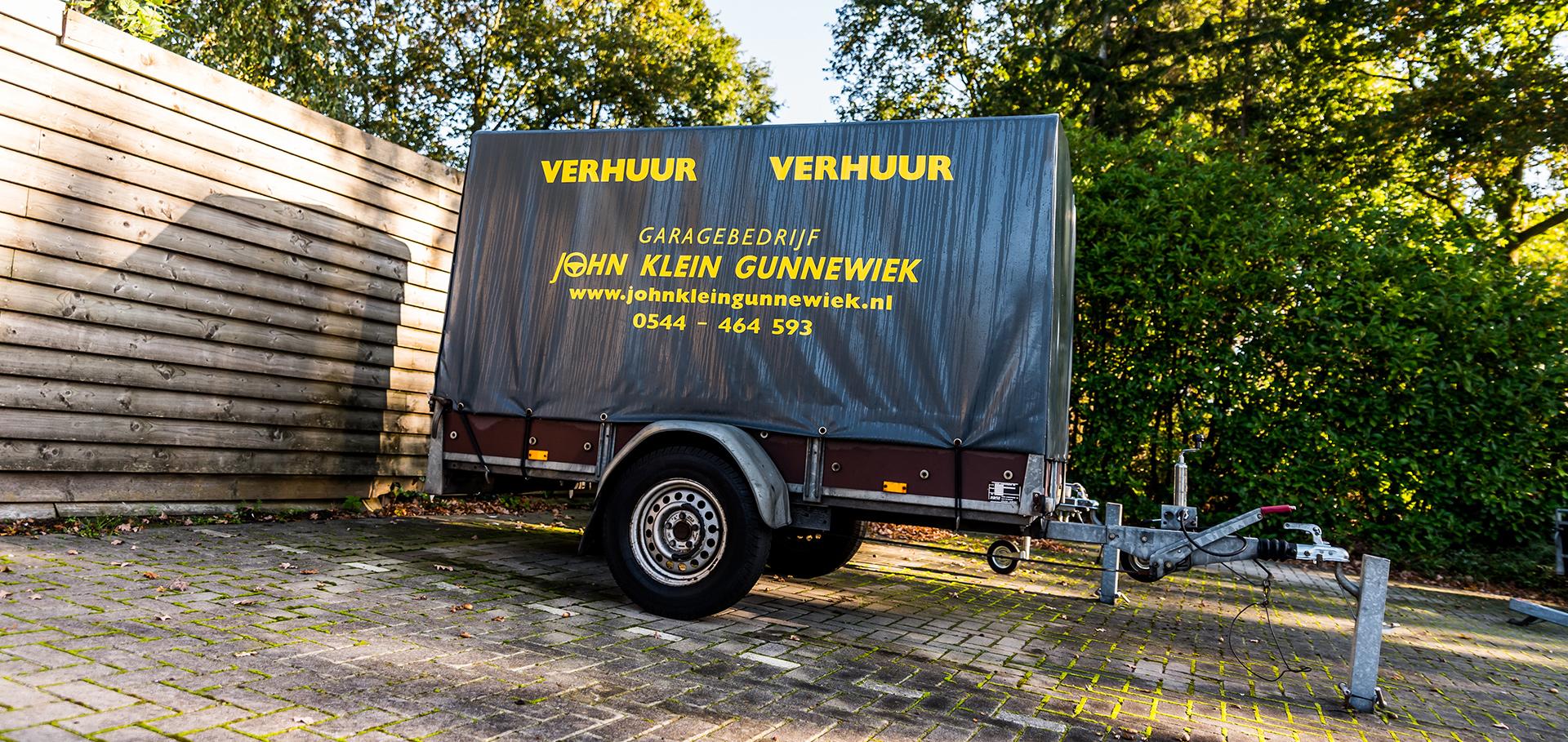Aanhangwagen verhuur Groenlo