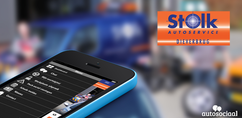 Download de Autoservice Stolk app in de app store of Google Play Store