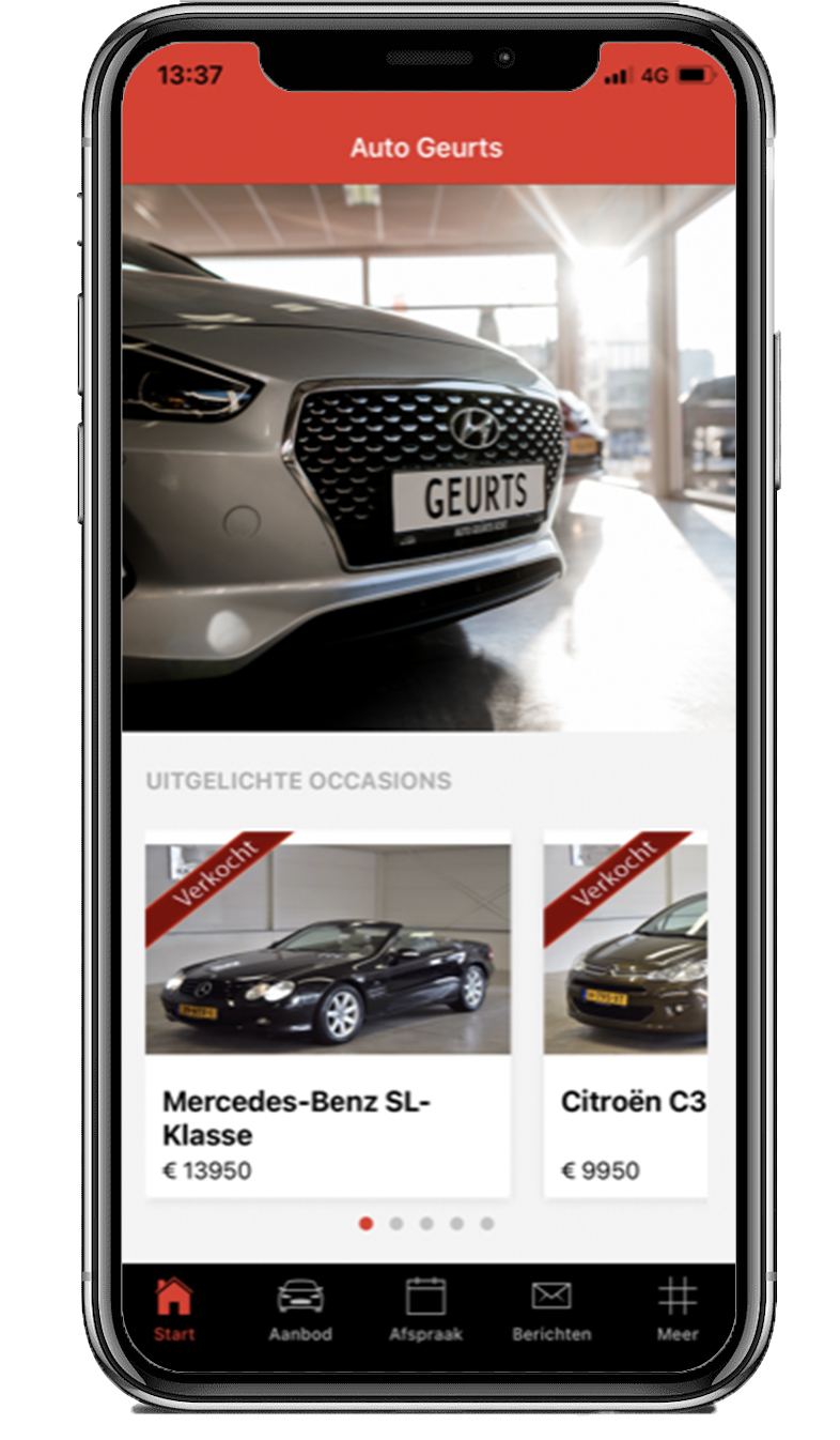 De automobielen Geurts app