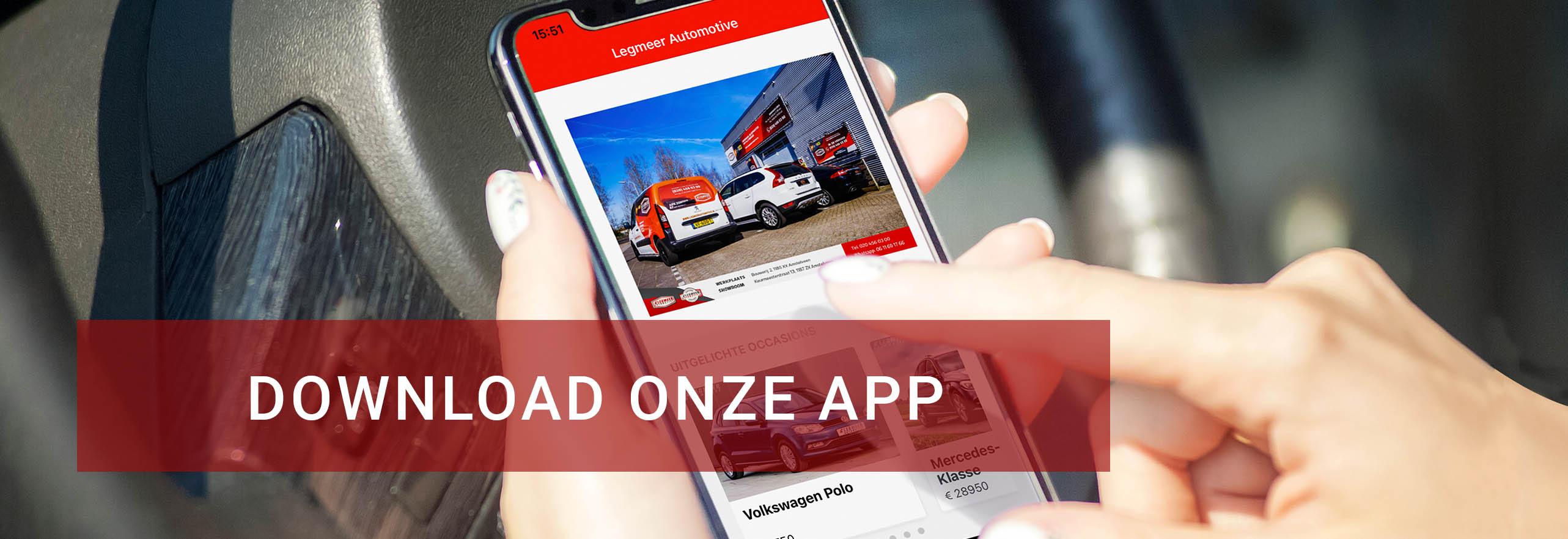 Legmeer Automotive app
