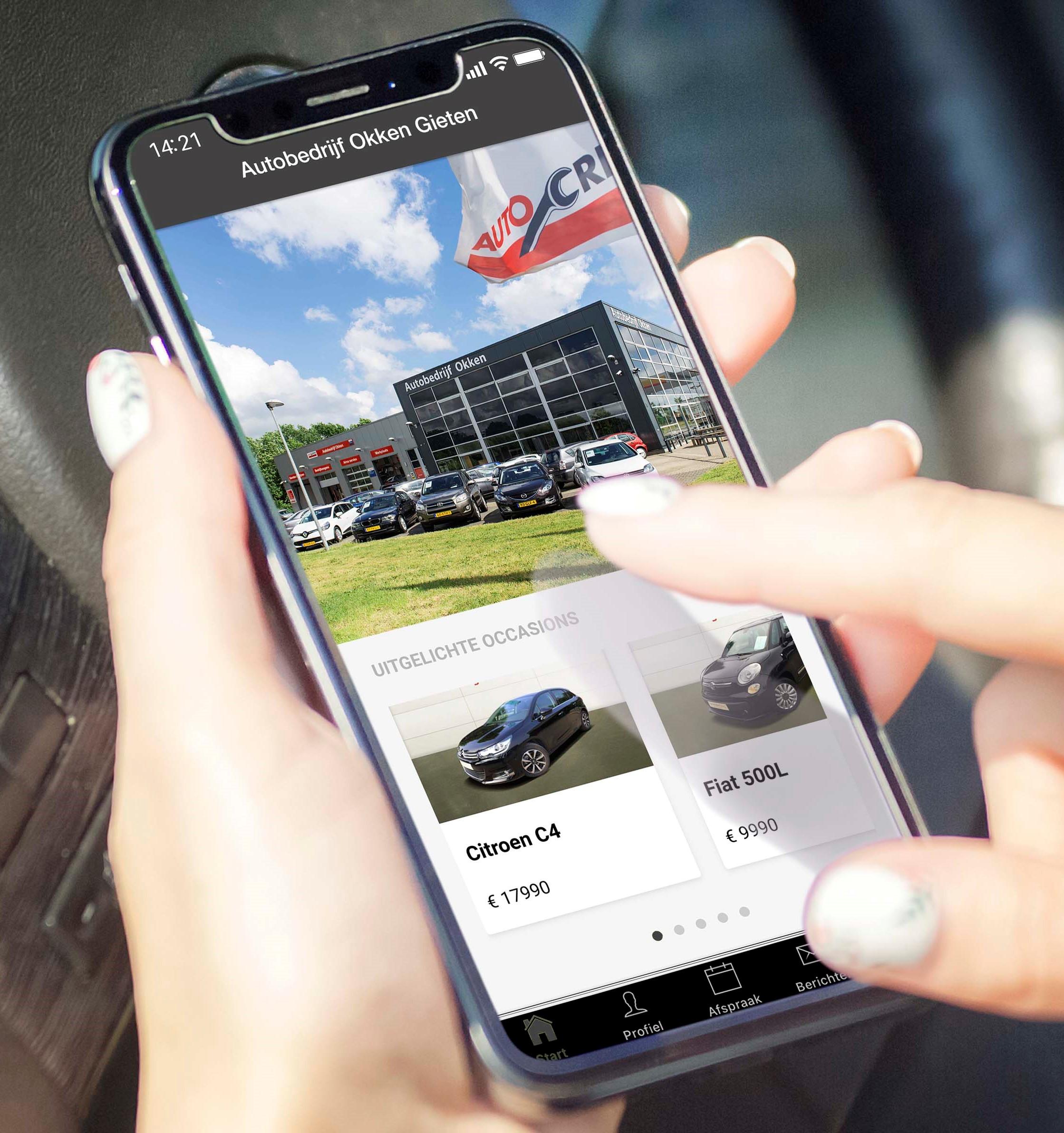 De autobedrijf Okken app