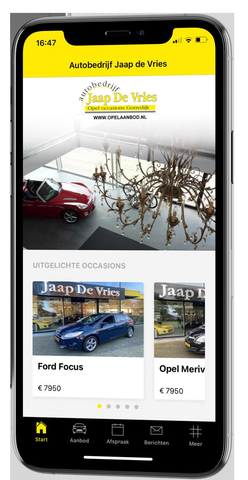 De autobedrijf Jaap de Vries app