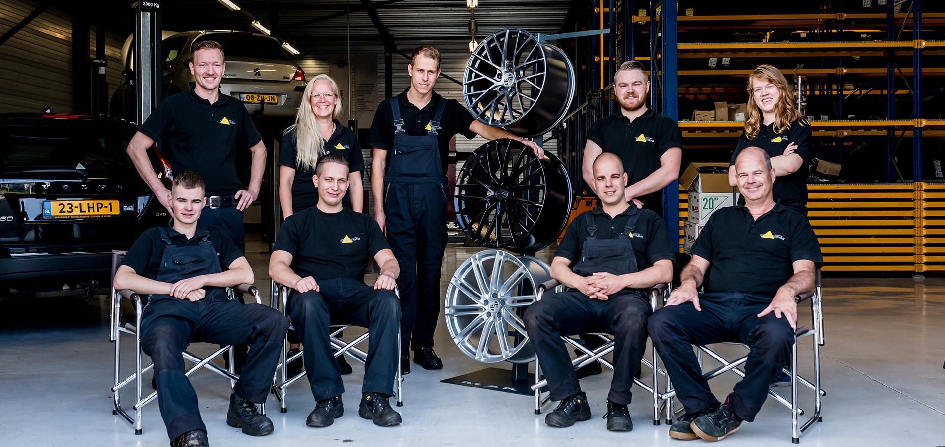 Het team van Bandencentrum Zutphen