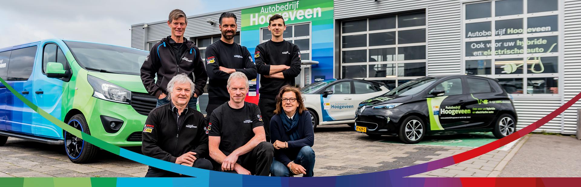 Het team van Autobedrijf Hoogeveen