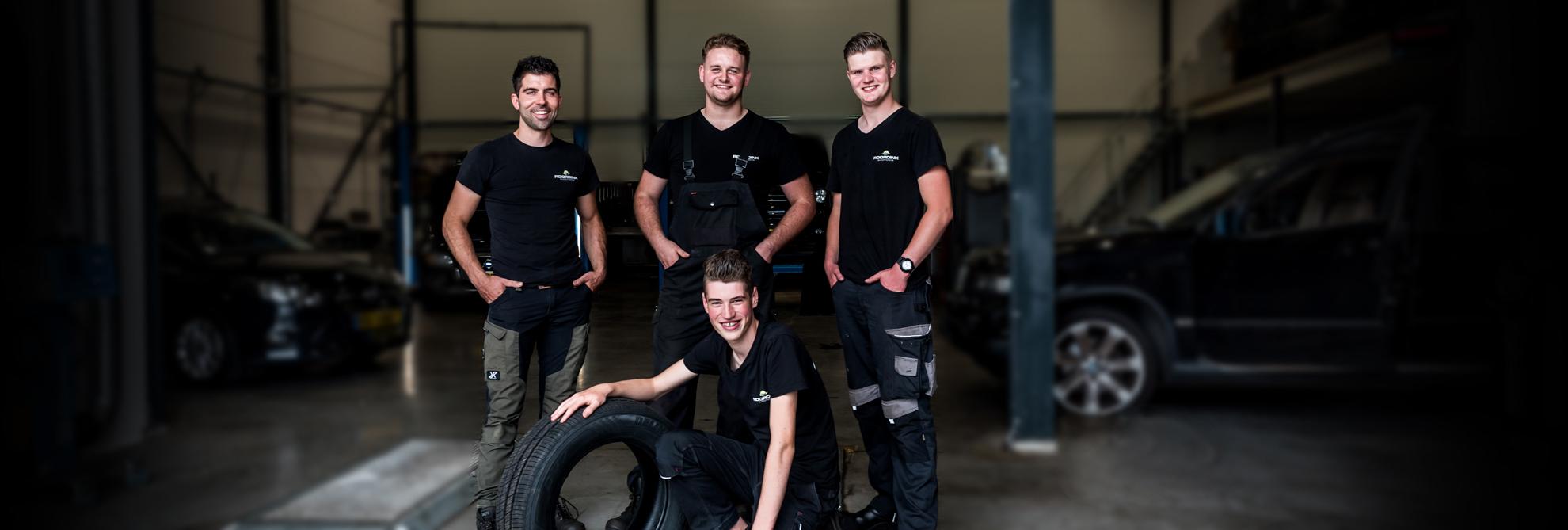 Het team van Roordink Automotive Putten