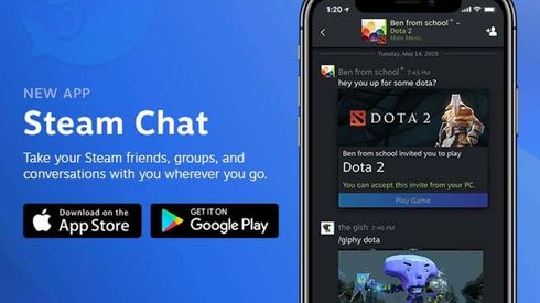 Valve has released a new standalone mobile app incorporating many of the chat features of its desktop client, which underwent a major refresh last year in an attempt to compete with Discord. The new mobile app, which is available for iOS and Android, includes rich chat features, group chats, customizable notifications, and more. Voice chat is a notable omission at present, though Valve says it's working on it.    This is Valve's second major iOS app launch in less than seven days. Last week the long-delayed Steam Link app, which lets users beam Steam games from their desktop PC to an iPhone, iPad, or Apple TV, was finally approved by Apple after having been rejected almost a year previously.   Source: https://www.msn.com/en-us/news/technology/valve-releases-steam-chat-app-for-ios-and-android/ar-AABJtqD