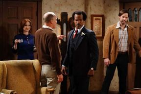 """Live TV is no easy feat — even for Oscar-winning actors.  On Wednesday night's live broadcast of Live in Front of a Studio Audience: Norman Lear's All in the Family and The Jeffersons, Jamie Foxx made a noticeable flub of one of his lines and then proceeded to hilariously call further attention to it. After fumbling his words, Foxx said, """"It's live. It's live — people at home thinking their TV is messed up.""""  The rest of the cast couldn't help but respond to Foxx's flub with Marisa Tomei and Ellie Kemper visibly laughing and smiling at Foxx's acknowledgment of the """"anything can happen"""" nature of live television. Ike Barinholtz covered his mouth with his hand to hide his case of the giggles, while Harrelson turned around, unable to contain himself.  In this live ABC special, Foxx was taking on the role of George Jefferson, filling the shoes of the original actor Sherman Hemsley down to his signature hairstyle and sharp suit.  Foxx was word perfect the night before during dress rehearsal, which EW was present for. At any rate, audiences responded kindly to the organic moment with viewers celebrating the moment and the surrounding cast's reaction to the error on Twitter.    Source: https://www.msn.com/en-us/tv/news/jamie-foxx-hilariously-breaks-character-after-line-flub-on-live-in-front-of-a-studio-audience/ar-AABLU0W?li=BBnb7Kz"""