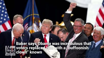 """Former President Obama took President Trump's win and Hillary Clinton's loss in 2016 as a personal insult, according to a newly updated book.  The former president was """"shocked"""" by the election results and felt the American people had turned on him, The Washington Examiner reported, citing New York Times correspondent Peter Baker's book """"Obama: The Call of History."""" It was originally published in 2017. He was also reportedly frustrated by Hillary Clinton's """"soulless"""" campaign after believing his legacy """"was in safe hands.""""  Clinton apologized to Obama after the election, according to Baker, saying """"I'm sorry for letting you down."""" He writes, """"To Obama … [s]he was the one who could not translate his strong record and healthy economy into a winning message."""" Baker also says Obama was incredulous that voters replaced him with a """"buffoonish clown"""" known for """"repeated bankruptcies, serial marriages and racist dog whistles.""""  Obama also compared himself to Michael Corleone from """"The Godfather"""" because he """"almost got out"""" of office unscathed like a mob boss avoiding a hit job, and he said Trump was like a character right out of """"Huckleberry Finn"""" who """"peddles in bulls--t,"""" The Washington Examiner reported.   Source: https://www.foxnews.com/politics/obama-took-trumps-win-as-a-personal-insult-book-says"""