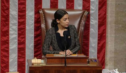 """In another first for rookie congresswoman Alexandria Ocasio-Cortez, the liberal Democrat from New York on Friday became the youngest woman to preside over the U.S. House of Representatives.  Sitting in House Speaker Nancy Pelosi's chair as part of a routine rotation of House members, Ocasio-Cortez took her turn with the gavel and ran the chamber for about an hour. The duty is shared day-to-day by members of the House majority, currently the Democrats.  In the event, Ocasio-Cortez did not have a great deal to do. She presided over """"special orders,"""" which are generally short speeches by House members at the end of the day's legislative business, often on issues of concern in their districts.  Ocasio-Cortez, 29, called on members as they rose to speak, once or twice stumbling over their states of origin. """"For what purpose does the gentleman from Ohio - um, from Illinois, excuse me, seek recognition?"""" she said as Representative Sean Casten, a fellow freshman Democrat, took the floor.  """"That was my first time presiding. And it's exciting. It's certainly a view. I wish we could, I wish we were allowed to take photos,"""" she told reporters after the session.  Ocasio-Cortez describes herself as a Democratic socialist and is the most prominent member of a group of female Democrats elected to the House for the first time last November, bolstering the party's liberal wing.  She has become a sensation on social media, drawing headlines for dance routines as well as championing the Green New Deal, a package of proposals to tackle climate change.  She is the youngest woman ever elected to Congress, representing New York's 14th district in the Bronx and Queens.   Source: https://www.msn.com/en-us/news/politics/whos-been-sitting-in-pelosis-chair-democrat-ocasio-cortez/ar-AABbXDg?li=BBnb7Kz"""
