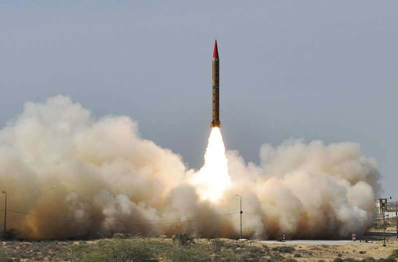 Pakistan's military says it has successfully test-fired a long-range ballistic missile capable of carrying a nuclear warhead.  A statement from the military says the surface-to-surface Shaheen-II missile, which has a range of 1,500 kilometers, or 932 miles, was launched on Thursday and ended in the Arabian Sea.  The announcement comes after a six-week general election in neighboring India, Pakistan's chief regional rival.  Both nations have nuclear arms and have fought three wars since gaining independence from Britain in 1947. They regularly test-fire missiles.  Vote counting in India shows Prime Minister Narendra Modi and his party have a commanding lead, making another five-year term for the Hindu nationalist leader very likely.   Source: https://www.msn.com/en-us/news/world/pakistan-says-it-has-test-fired-nuclear-capable-missile/ar-AABMXDc