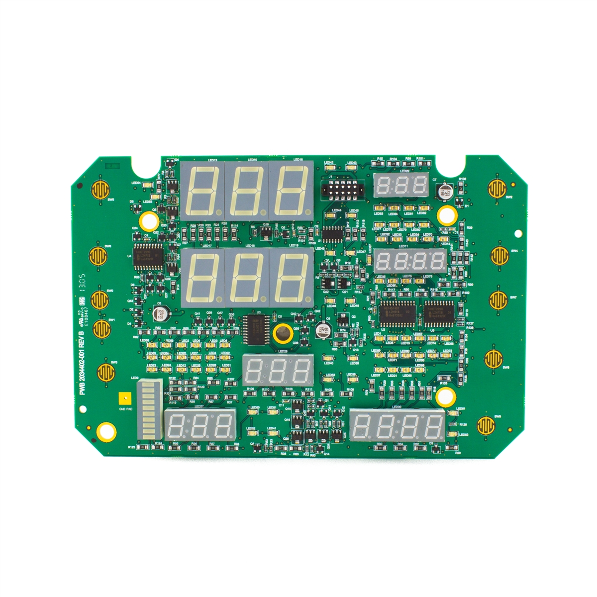 GE Carescape V100 Vital Signs Monitor User Interface Display Circuit Board