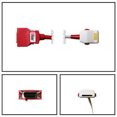 OEM Masimo SET 2059 Red PC-08 8FT/2.4M SpO2 Patient Extension Adapter Cable LNOP F-Tab to Red 20 Pin Connector