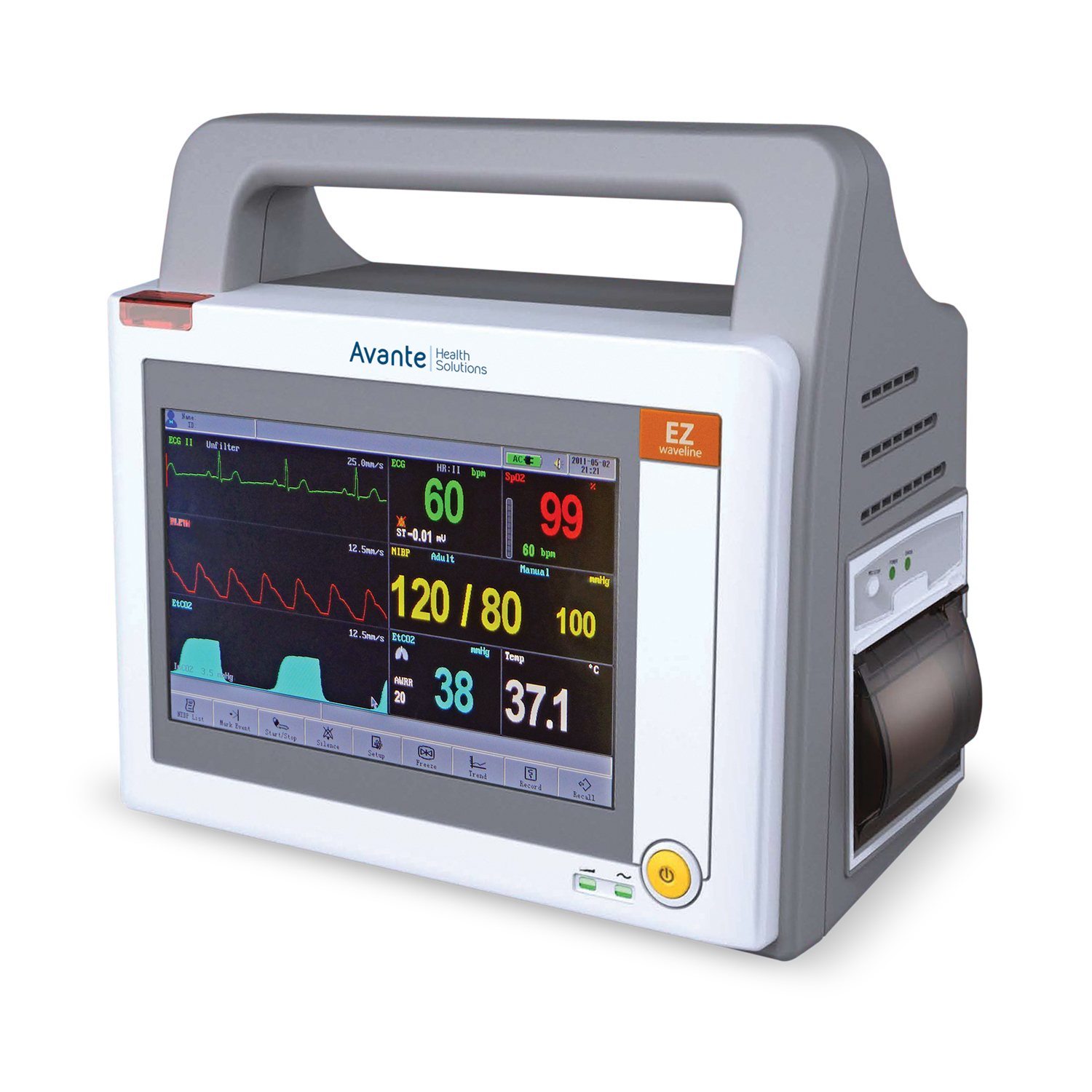 Avante Waveline EZ Portable Patient Monitor with Touch-Screen