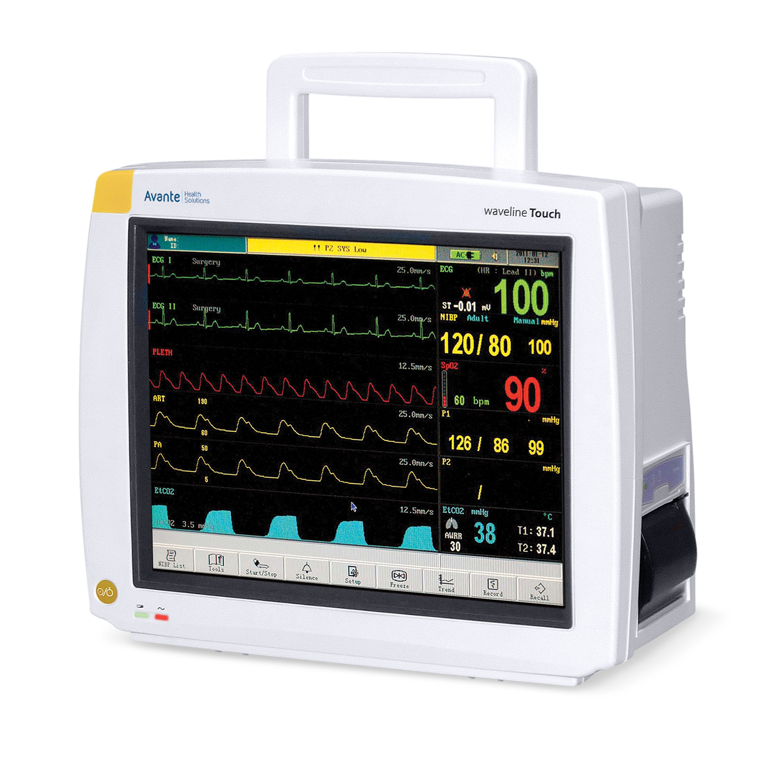 Avante Waveline Touch Patient Monitor with Touch-Screen