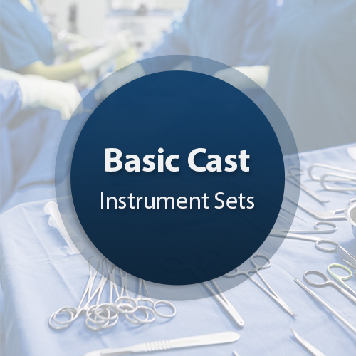 Cast Surgical Instrument Set - Basic