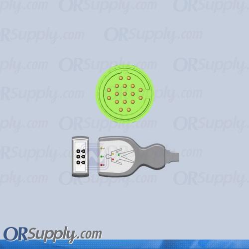 Burdick SpaceLabs ECG Cable, 3-Lead IEC