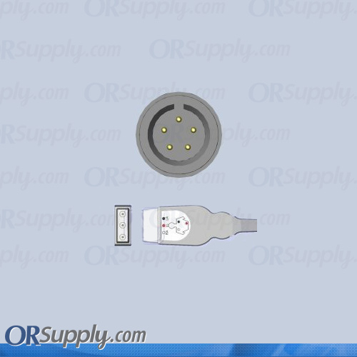 5-Pin Inverse AHA ECG Cable for Advanced Medical, Aequitron, ATL, Del Mar, and GE Medical