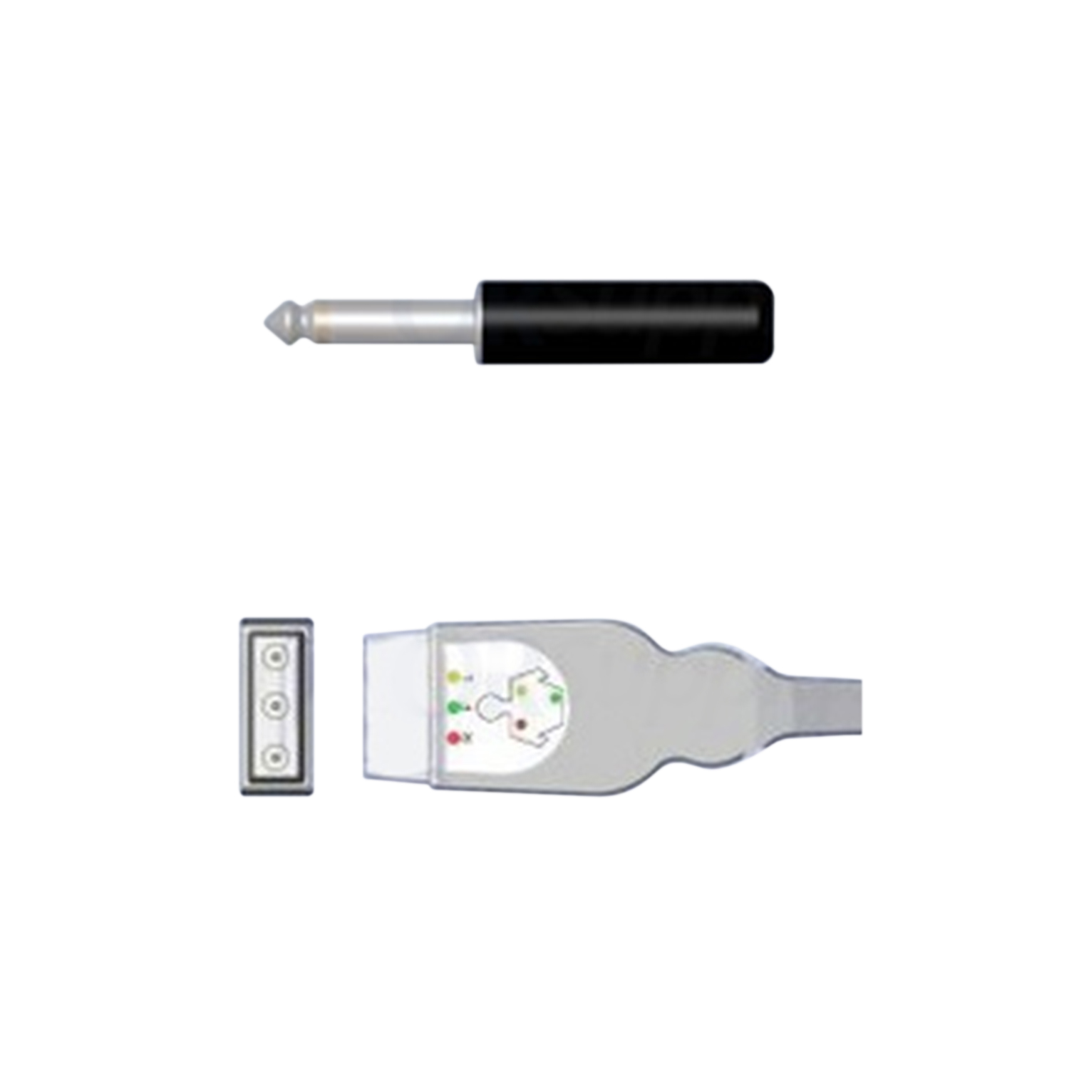 Medtronic Physio-Control ECG Cable for Lifepak Defibrillators, 3-Lead IEC Safety Din