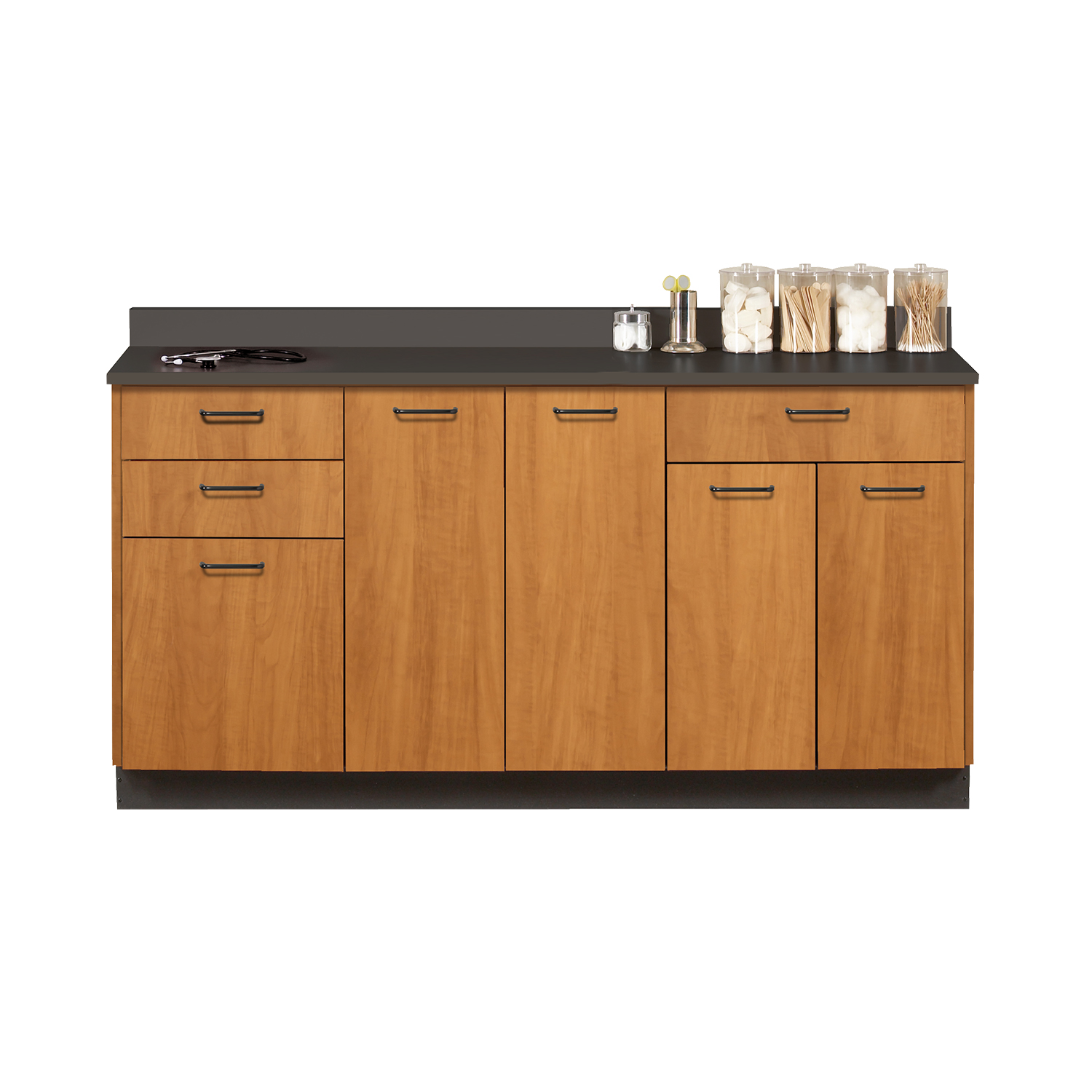 Clinton Base Cabinet with 5 Doors and 3 Drawers