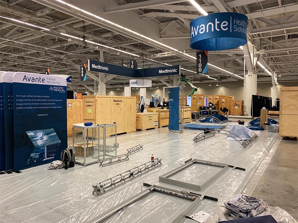 AAMI 2019 expo booth setup photo