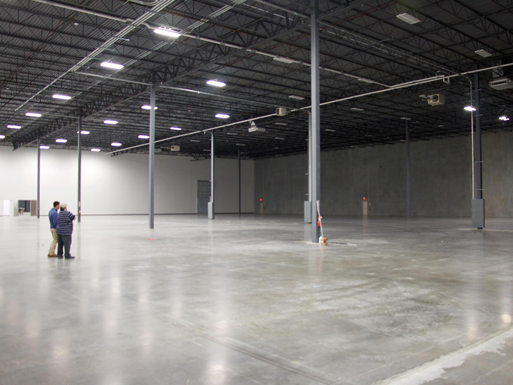 Avante Health Solutions building in Concord, NC warehouse finished