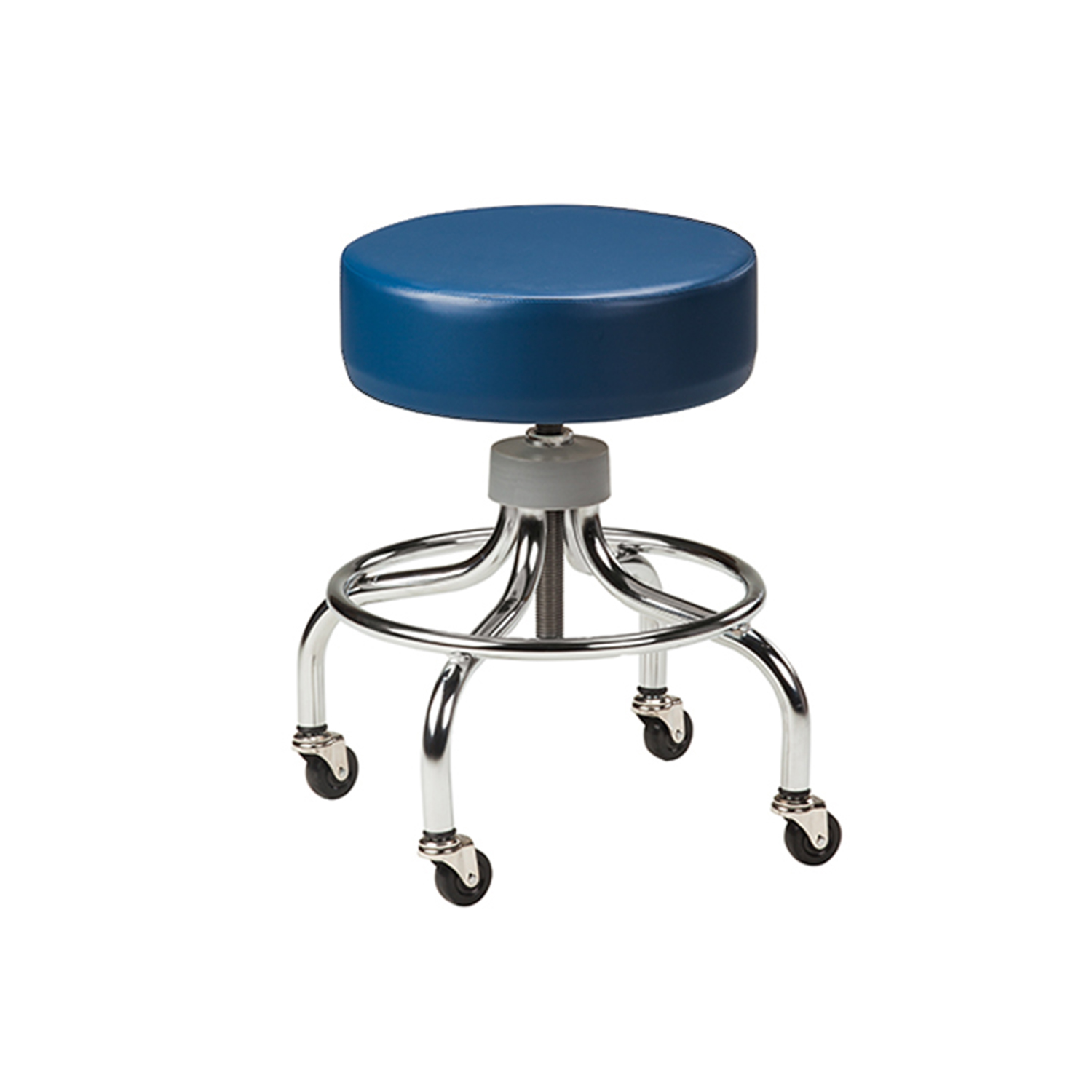 Clinton Chrome Base Stool