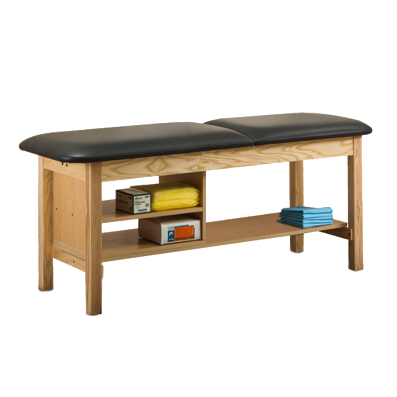 Clinton ETA Classic Series Treatment Table with Shelving - 1030