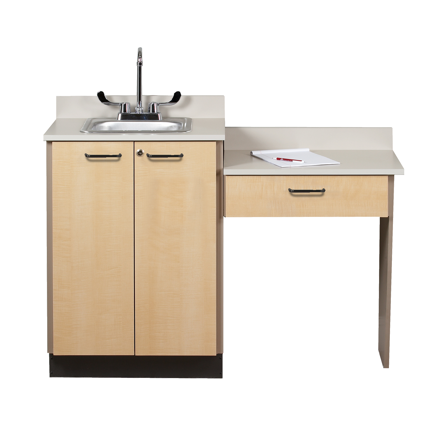 Clinton Wall Mount Desk with 1 Leg and 1 Drawer