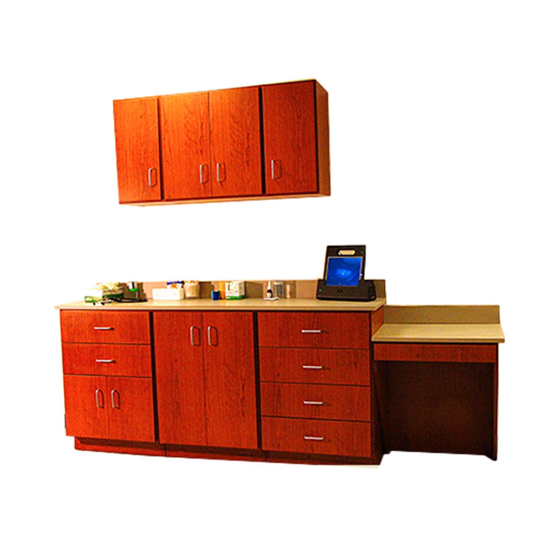 DRE Pro Cabinet Series: 6 Drawers, 4 Door Cabinet, 4 Door Wall Cabinet and Desk