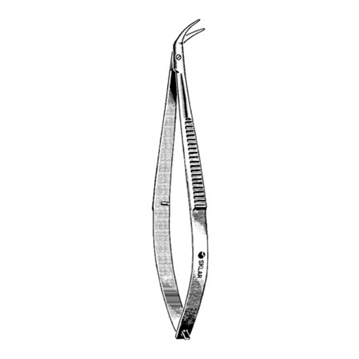 Castroviejo Corneal Scissors, Miniature, Curved Right, 4 1/4""