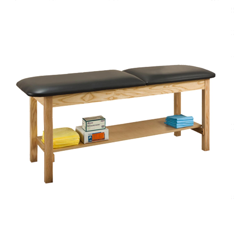 Clinton ETA Classic Series Treatment Table with Shelf - 1020