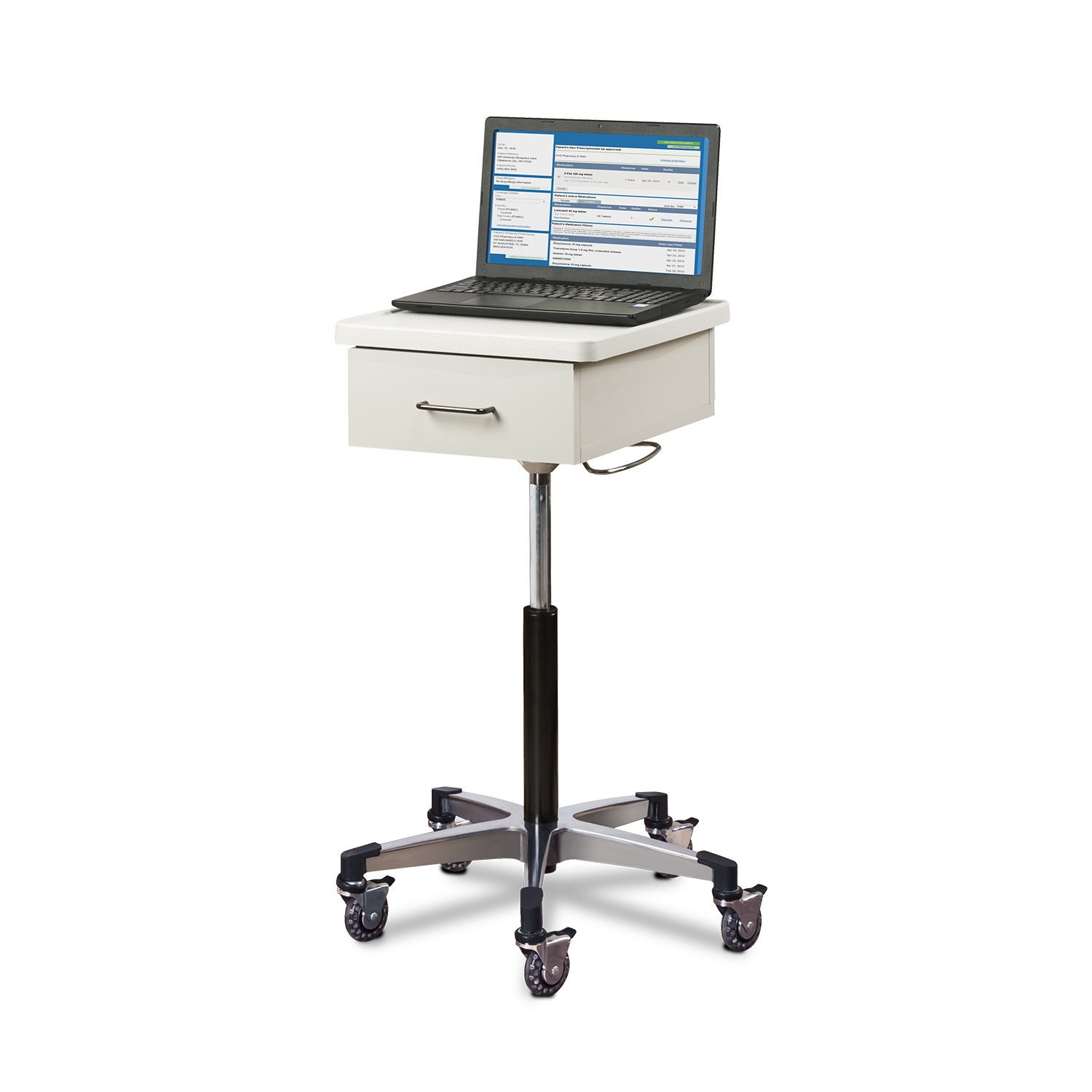 Clinton Compact, Tec-Cart™ Mobile Work Station with Drawer