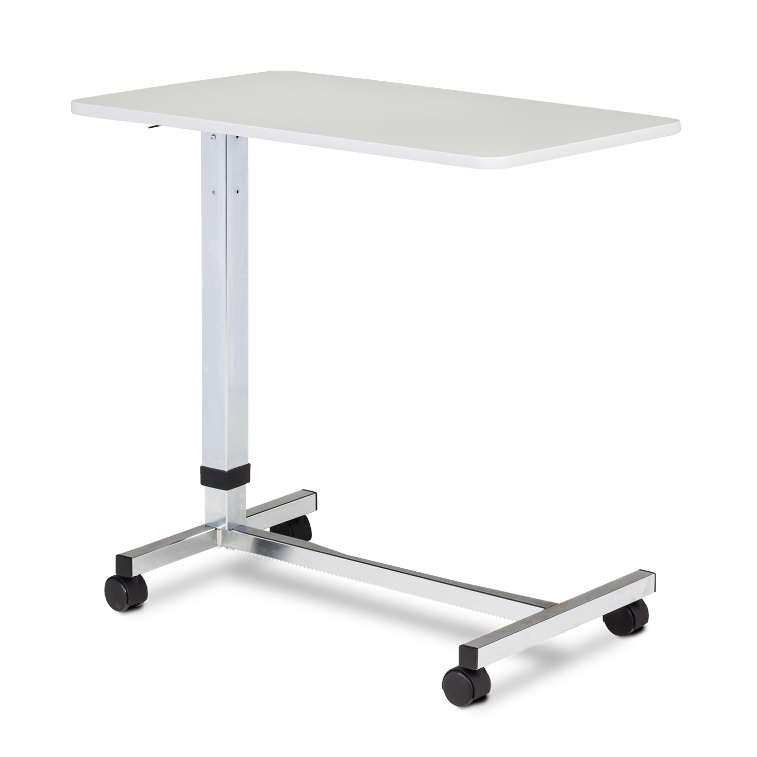 Clinton Over Bed Table, H-Base, Gray Top