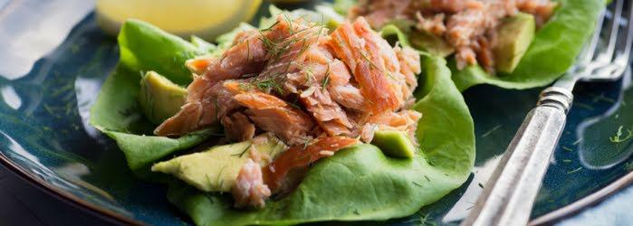 Tacos de salmón a la mexicana
