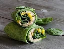 Wrap de atún y verduras