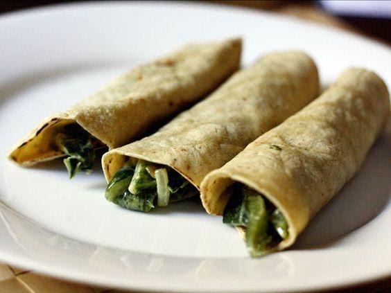Burrito de rajas con pollo