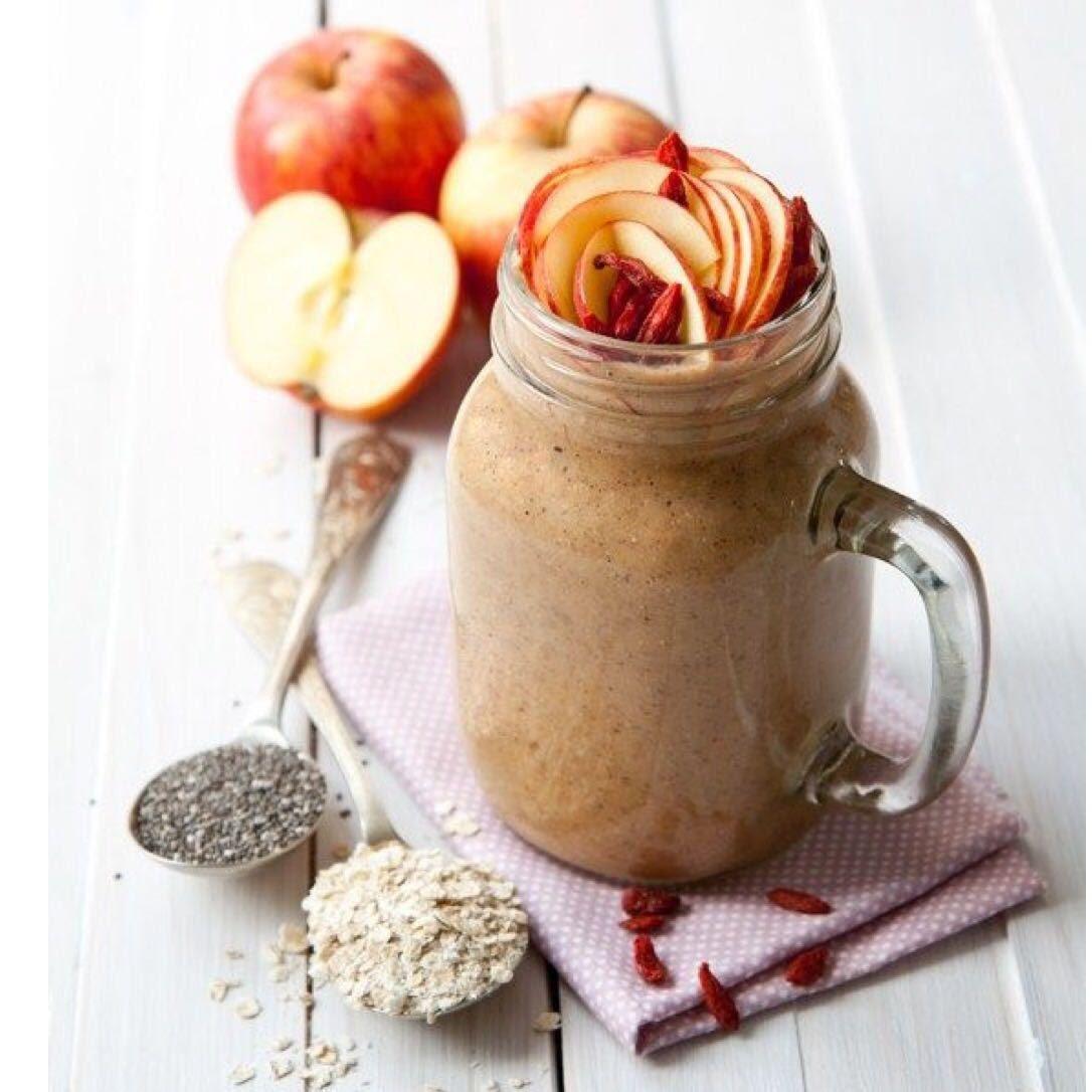 Smoothie de manzana con avena