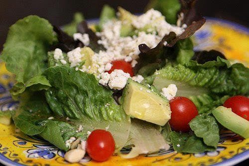 Ensalada con queso cottage