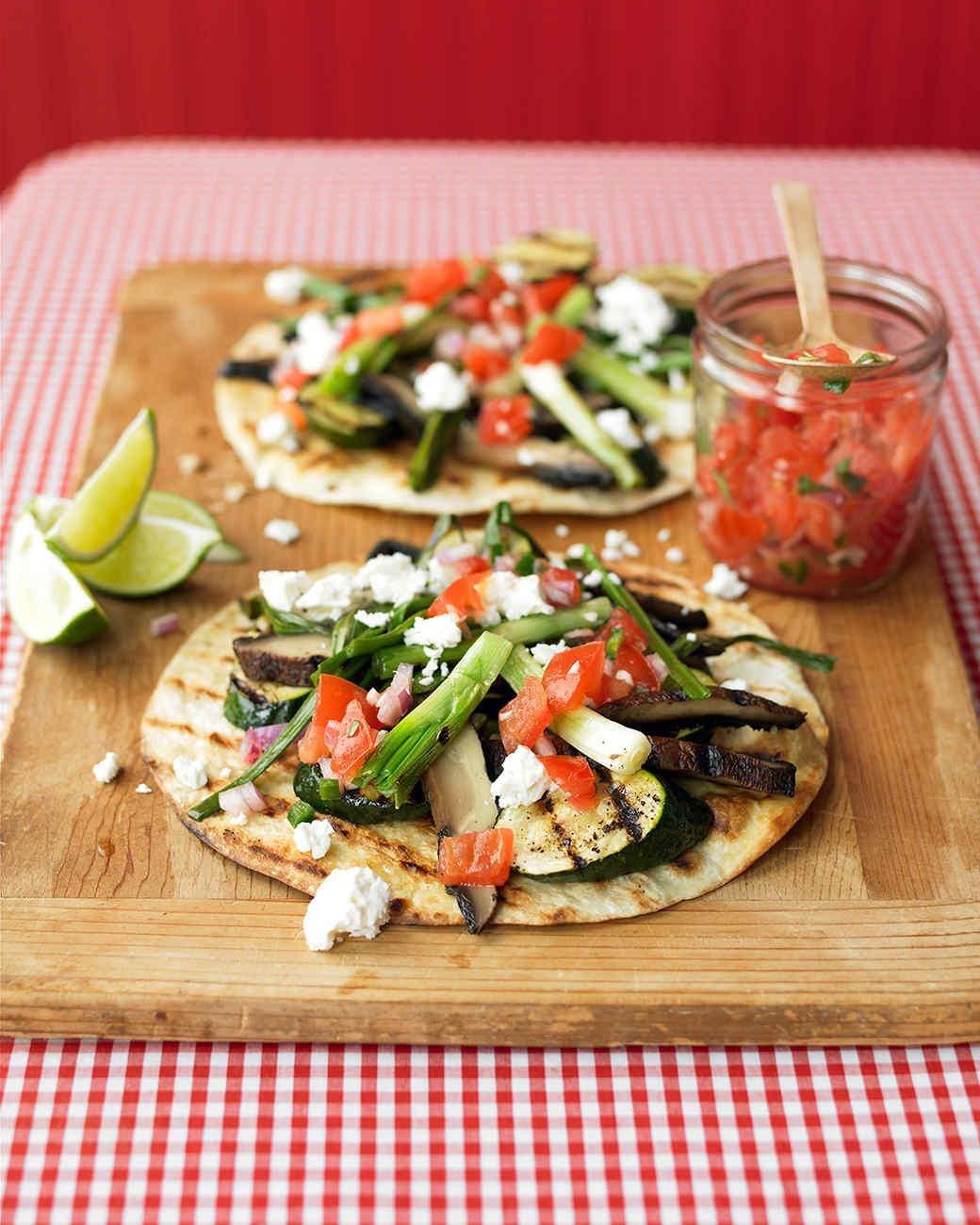 Tostadas con verduras asadas
