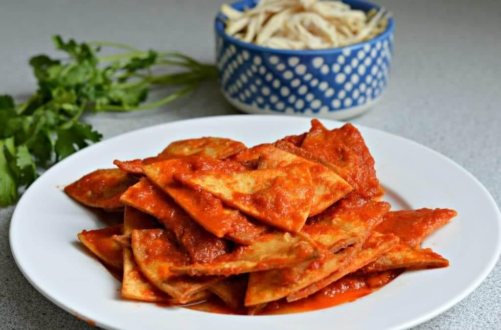 Chilaquiles fit con cottage
