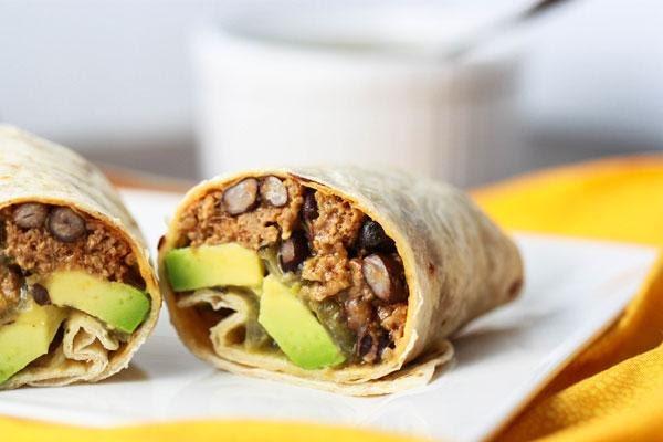 Burrito de res con aguacate