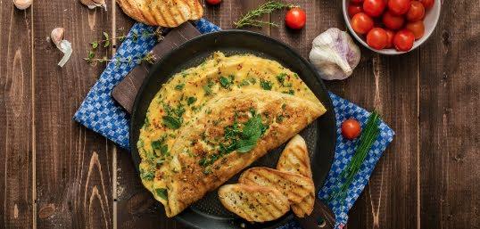Omelette de huevo con ejote
