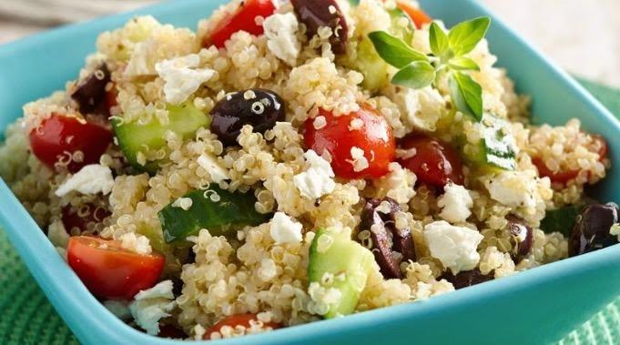Ensalada de quinoa y panela
