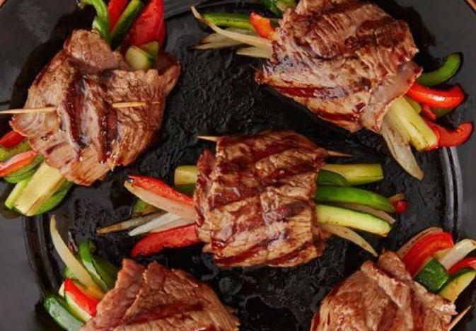 Rollitos de carne con verdura
