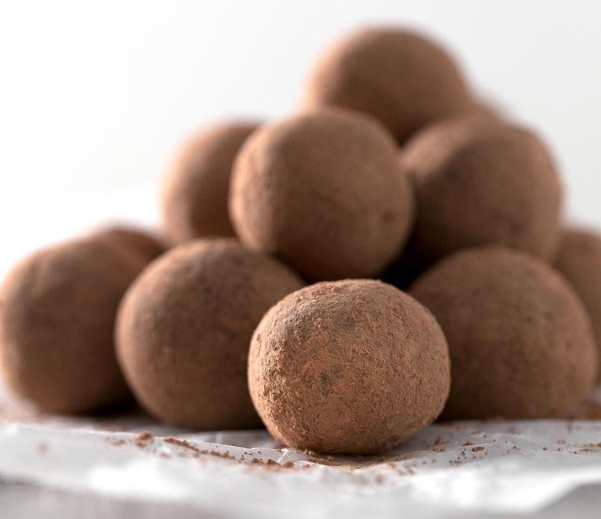 Energy balls de chocolate y naranja