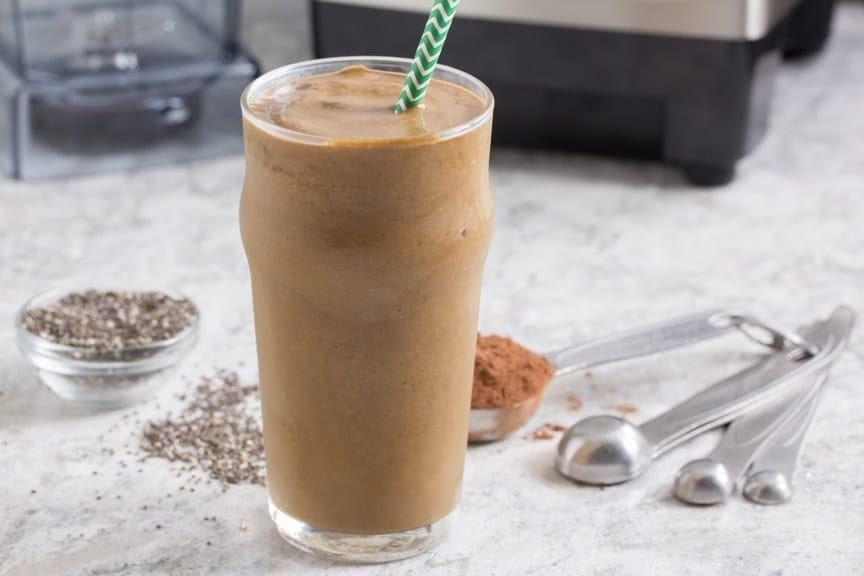 Smoothie de café y almendra
