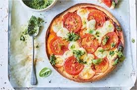 Pizza caprese modificada