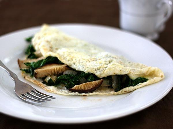 Omelette de champiñón